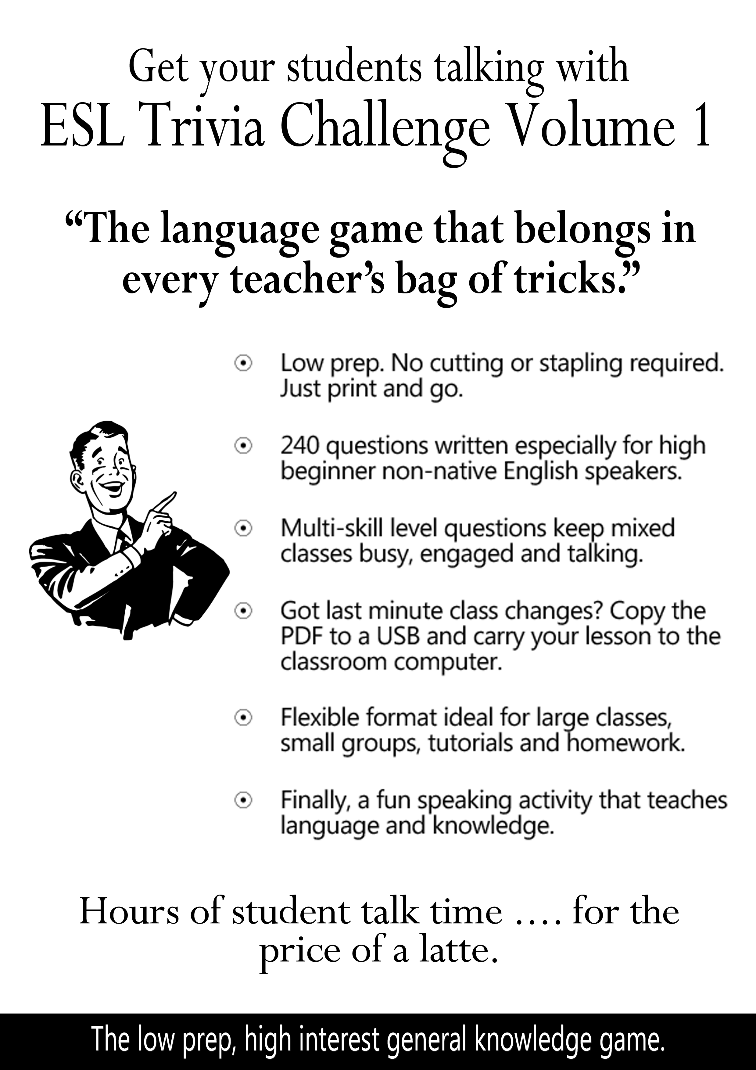 The ESL trivia game that teaches English and knowledge